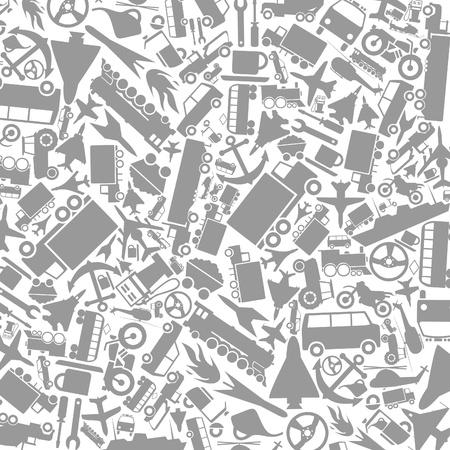 avion de chasse: Fond gris sur un thème de transport Une illustration vectorielle