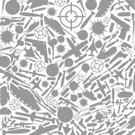 bombing: Grijze achtergrond op een thema oorlog Een vector illustratie
