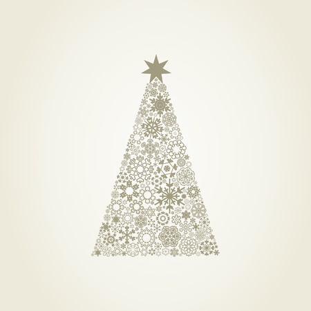 The Christmas tree consists of snowflakes  Stock Vector - 13517674