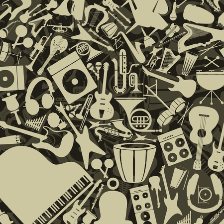 Background from musical instruments  Vector