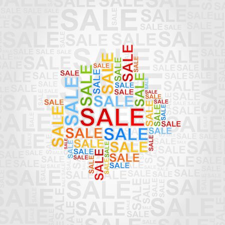 Abstract background of sales Vector