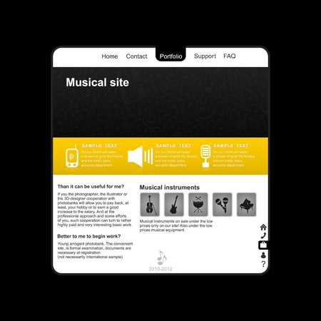 Site on a musical theme  A vector illustration Vector