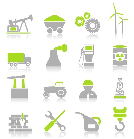 flank: Set of icons on a theme the industry Illustration