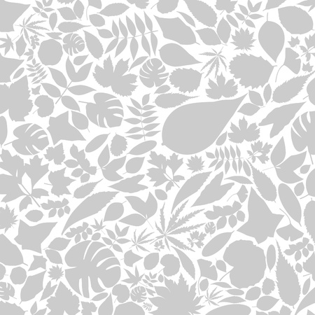Grey background from leafs Stock Vector - 13711406