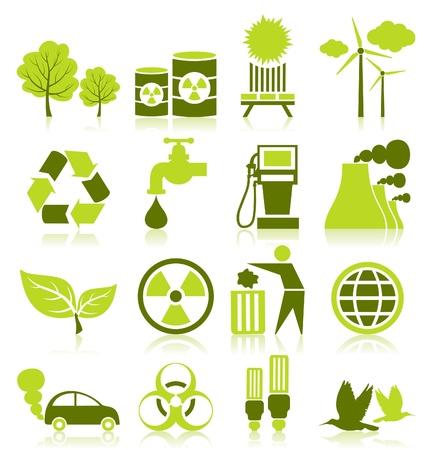 Zestaw ikon na ekologię rozrywki