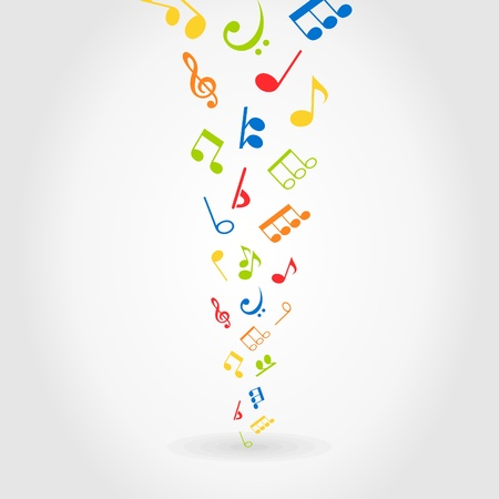 religious music: Notes on a black background  A vector illustration Illustration