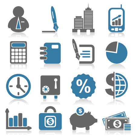 Set of icons on a theme business  A vector illustration Stock Vector - 13934501