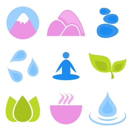 spa resort: Set of icons on a theme spa  A vector illustration Illustration