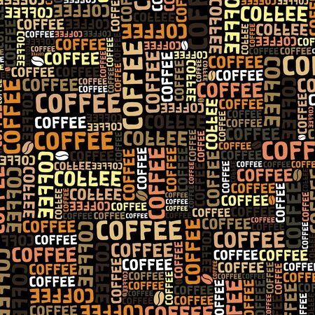 Background on a coffee theme   Vector