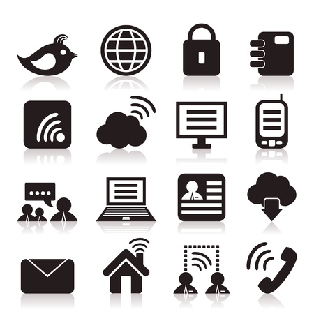 Set of icons on a theme communication  Vector