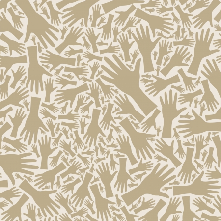 Background from hands of grey colour Vector