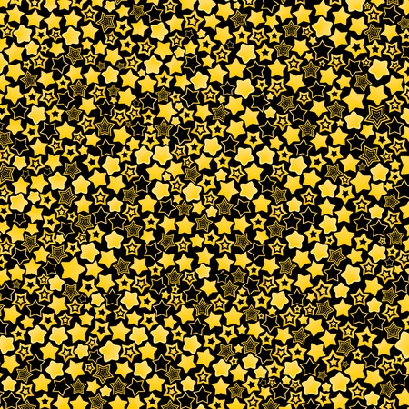 Background made of gold stars  Vector