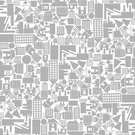 Architectural background from houses. A vector illustration Vector