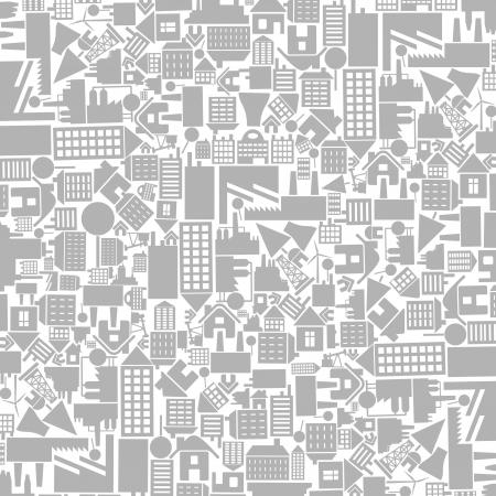 Architektonischen Hintergrund von Häusern. Ein Vektor-Illustration Illustration