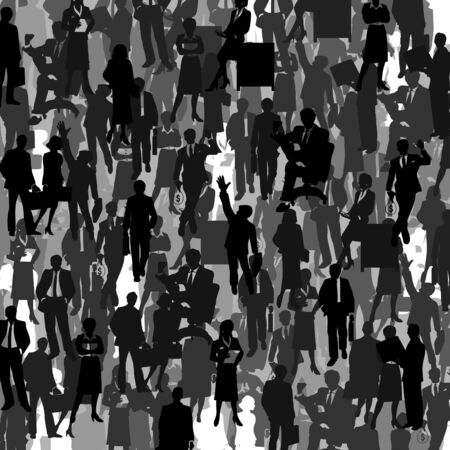 Grey background from businessmen. A vector illustration Stock Vector - 14393041