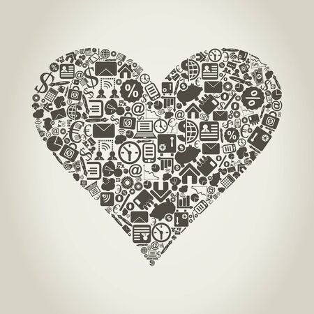 Heart from business subjects  A vector illustration Stock Vector - 14637373