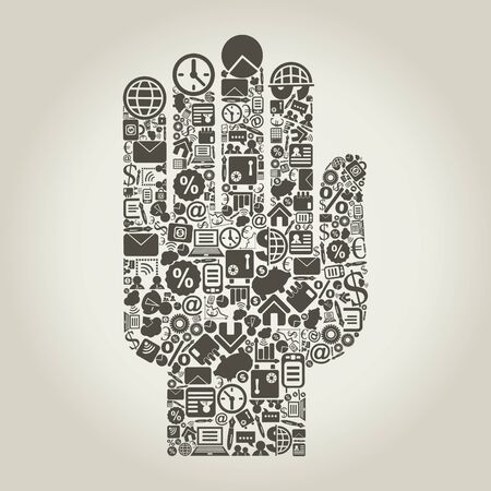 Hand from business subjects  A vector illustration Stock Vector - 14637374