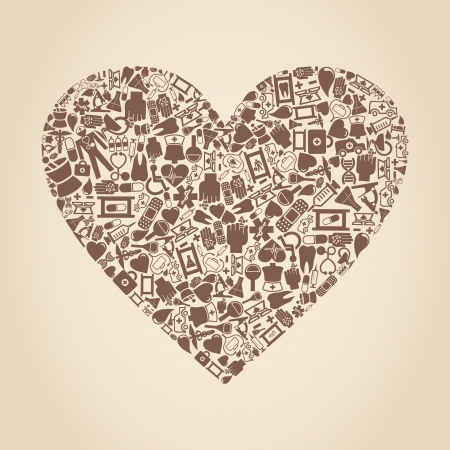Heart from medicine subjects  A vector illustration Ilustrace