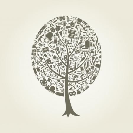 Tree on a theme art