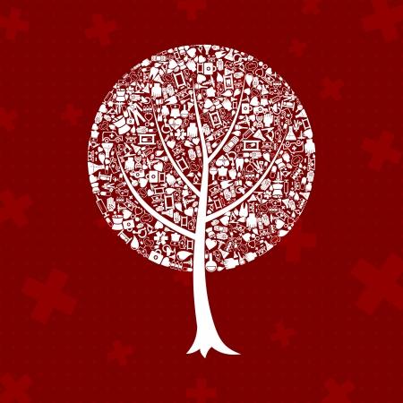 Tree on a theme medicine   Vector