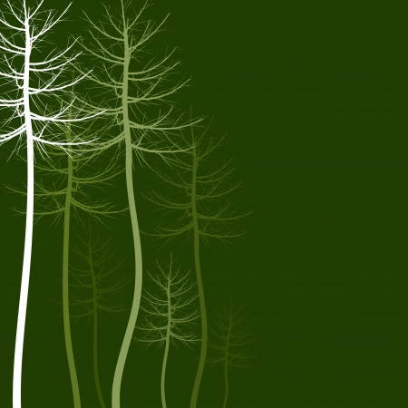 aspen: Wood of trees on a green background