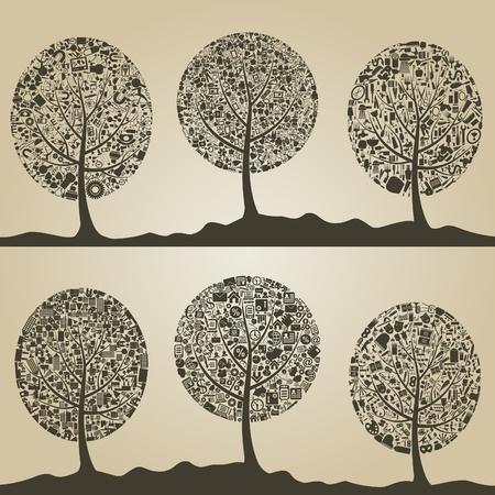 acacia: Set of trees for design