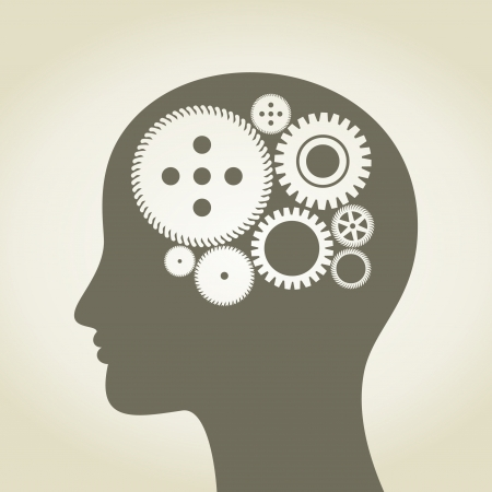 Gear wheel in a head of the person