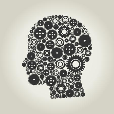 steel head: Head made of gears