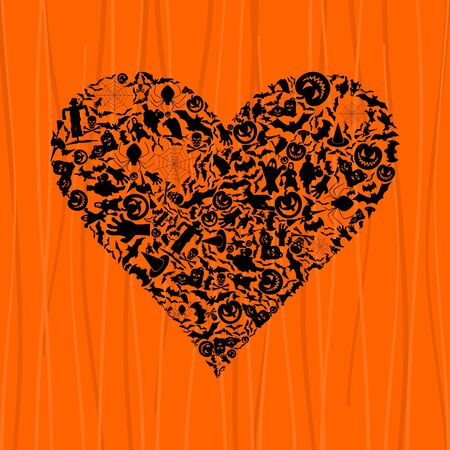 Heart on theme Halloween Stock Vector - 15231670
