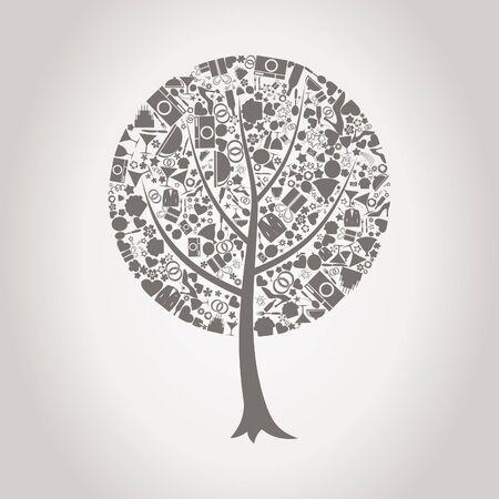tree ring: Tree made of wedding  Illustration