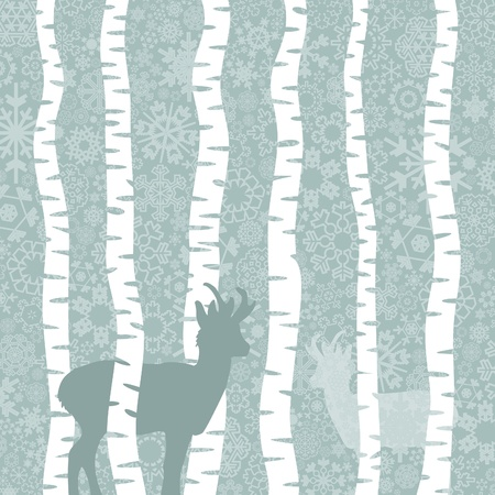 Snow in winter wood. A vector illustration Stock Vector - 15366520