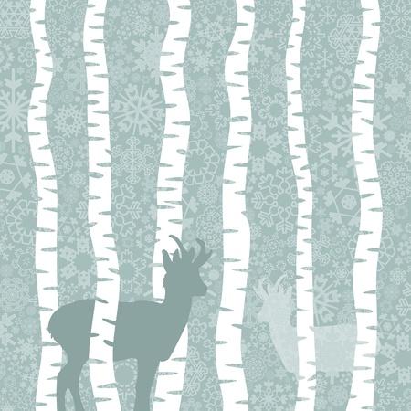 winter vector: Snow in winter wood. A vector illustration