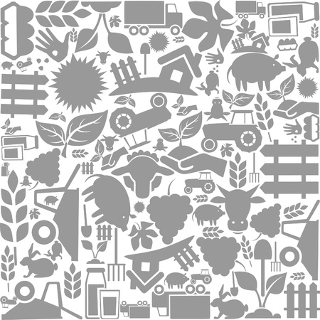 Background on a theme agriculture   Vector