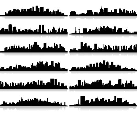 Collection of city landscapes Stock Vector - 15579891