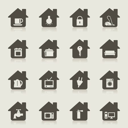 Set of icons of houses   Stock Vector - 15579934