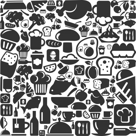Background on a theme a foodstuff  Vector
