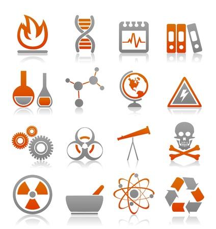 fizika: Ikonok egy tudományos téma Illusztráció