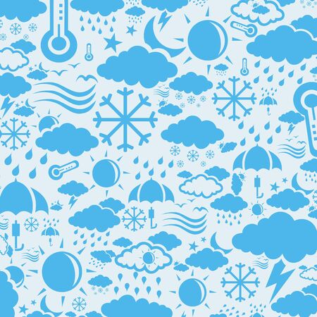Background collected from weather symbols. A  illustration Vector