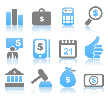 bank book: Set of icons for business  A vector illustration