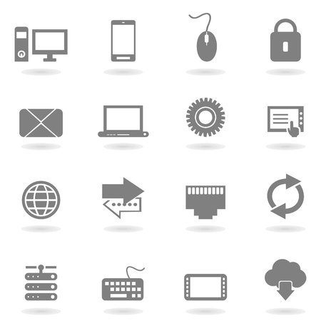Set of icons the computer for design Stock Vector - 15893688