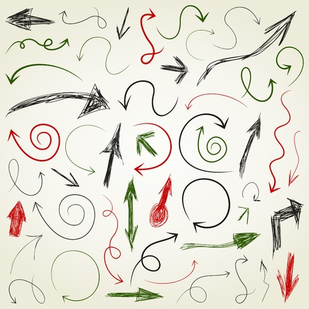 curve arrow: Set of arrows of sketches for web design  A  illustration Illustration