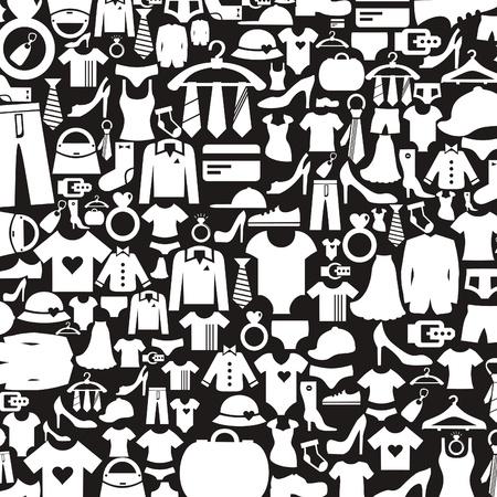 faldas: Fondo hecho de ropa Una ilustraci�n