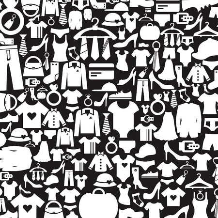 Background made of clothes  A  illustration Vettoriali