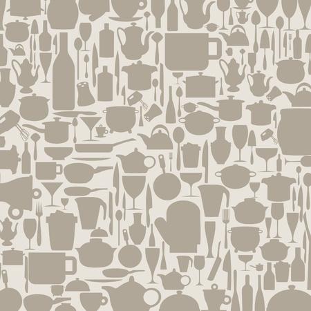 kitchen ware: Background on a theme kitchen ware  A  illustration