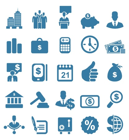 bank book: Set of icons on a theme business  A  illustration
