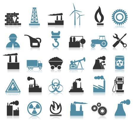 Set von Icons auf einem Thema der Branche Eine Illustration