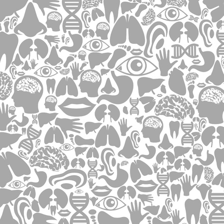 Background made of body parts. A illustration Vector