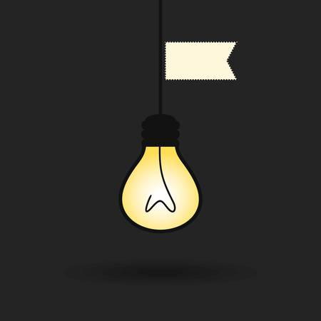 weighs: The bulb weighs on a wire  A illustration Illustration