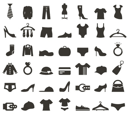 cowards: Set of icons on a theme clothes. A vector illustration Illustration