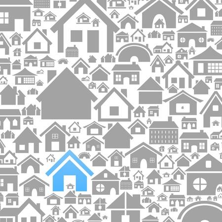 maison: Fond fait de maisons Une illustration de vecteur Illustration
